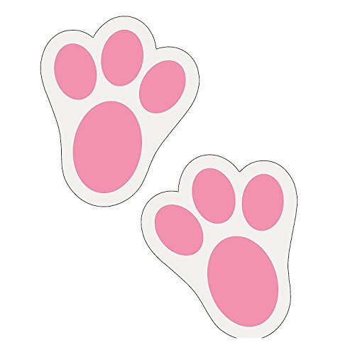 (Fun Express Pink Bunny Paw Print Floor Decal Clings - 12 Pieces)