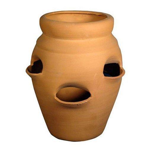 (Standard Strawberry Pot - Herb Jar - Terracotta - 4 Pocket - 1 Gallon - 6 x 10 by Hirts: Pots)