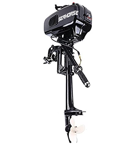 Cosway 3.5HP Outboard Motor 2 Stroke Inflatable Boat Engine with Water Cooling System for Inflatable Boats, Fishing Boats, Sailboats, and Small Yachts, US - 3.5 Hp Engine
