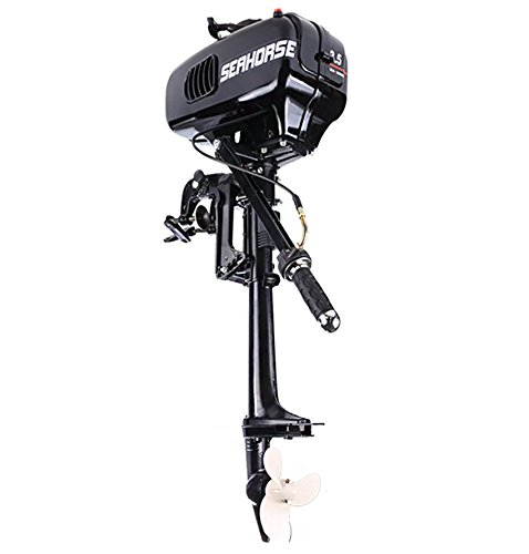 Cosway 3.5HP Outboard Motor 2 Stroke Inflatable Boat Engine with Water Cooling System for Inflatable Boats, Fishing Boats, Sailboats, and Small Yachts, US Stock