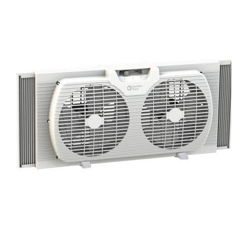 CCC Comfort Zone, 9' Portable Twin Window Fan, White