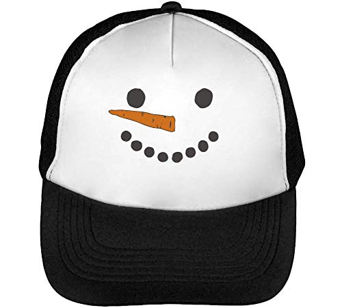 Hombre Negro Blanco Beisbol Snapback Gorras Snowman Smile xTEw7qzE0
