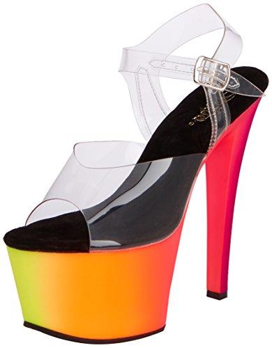 38 De Tacón Mehrfarbig Zapatos Color Talla 308uv Rainbow Pleaser fwqORR