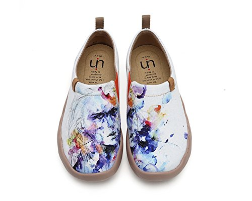 Female Travel On Slip Women's UIN Fashion White Shoes Canvas Shoe Painted Fairy xwqBAfUOS