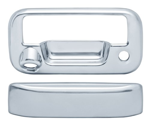 Camera View Chrome Rear (Brite Chrome 11117 Chrome Tailgate Handle Cover with Backup Camera)