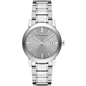 Burberry bu9035 38mm silver steel bracelet case anti reflective sapphire women 39 s watch amazon for Anti reflective watches