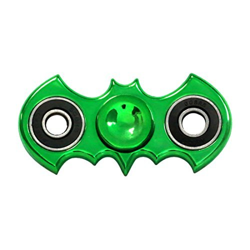 Ho Bus Stop - Zip Spinners- Batman Fidget Spinner Toy Ultra Speed Premium Bearings Guarantee 2 to 5 mins Spinning- Best Stress Reducer Finger Toys Hand Spinner for Kids & Adults (Green Batarang)