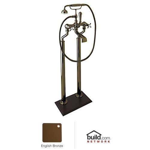 Rohl U.3013X/1-EB Ay51-Tcb-2 Georgian Era Floor Mount Exposed Tub Filler Faucet with Hand Show, English Bronze by Rohl