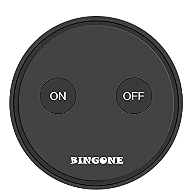 BINGONE Wireless Switch Outlet Transmitter and Receiver Kit Intelligent Remote Control for Light,Household Appliances,up to 30m/100ft Operating Range Black/White