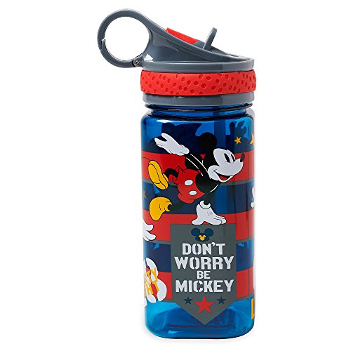 Disney Mickey Mouse Water Bottle with Built-In Straw