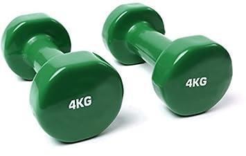 Accesorios de hierro fundido TNP vinilo juego de mancuernas pesas gimnasio elevación ejercicio Pilates Verde oscuro: Amazon.es: Deportes y aire libre