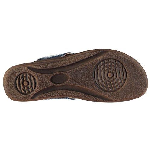 Sandalen Zehentrenner Blau Verzierung Perforierte Beppi 37 Pantolette Damen 4 ngwq4wxT