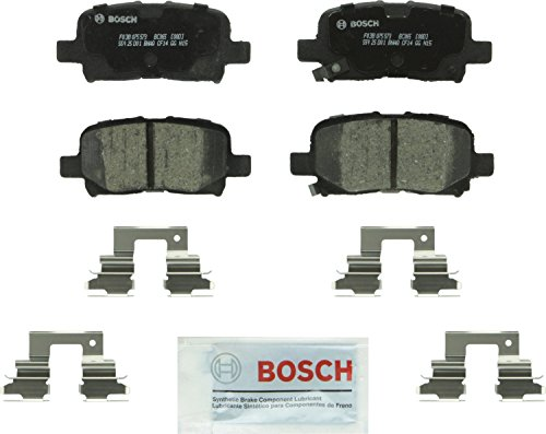 Bosch BC865 QuietCast Premium Ceramic Disc Brake Pad Set For: Acura MDX; Honda Odyssey, Pilot, Rear ()