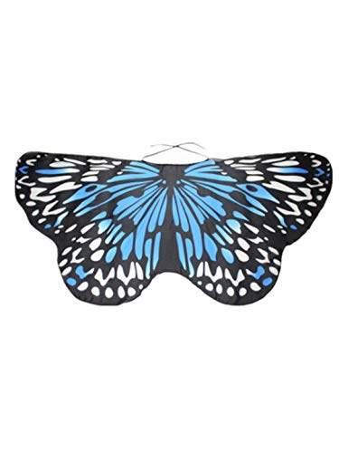 iLXHD Christmas Party Prop Kid Baby Girl Soft Fabric Butterfly Wings Shawl Scarves Nymph Pixie Poncho Costume Accessory -