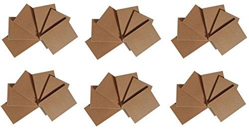 Notepads with Kraft Paper Covers - Bulk Buys (36 Notebooks, 4.5 x 3 Mini Notebooks) by K-Kraft