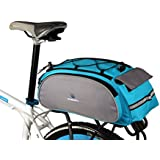 Best Fit For U Roswheel Bicycle Cycling Bike Saddle Rack Seat Cargo Bag Rear Pack Trunk Pannier Handbag Blue Outdoor Traveling New(Blue)