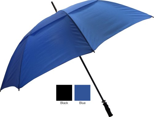 065-FSVBK Fiberglass Shaft Umbrella - Black - Case of 24 by RainWorthy