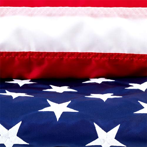 Star Spangled Flags American Flag 3x5 Certified 100% Made in USA Nylon Outdoor US Flag with UV Protected Colors Embroidered Stars Sewn Stripes Brass Grommets & Reinforced Fly End