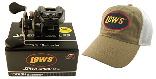 Cheap Bundle – Lew's Speed Spool LFS SSG1SH 7.5:1 Right Hand Baitcast Reel and Hat