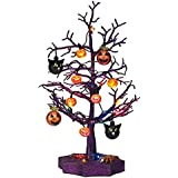 Halloween LED Sparkle Tree with Cats, Pumpkins And Spiders- 19""