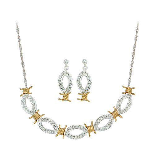 Crystal Barbed Wire Jewelry Set