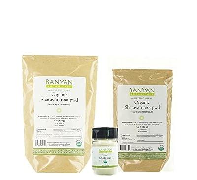 Banyan Botanicals Shatavari Powder, USDA Organic, Asparagus Racemosus, Rejuvenative for Vata and Pitta that Promotes Vitality and Strength.