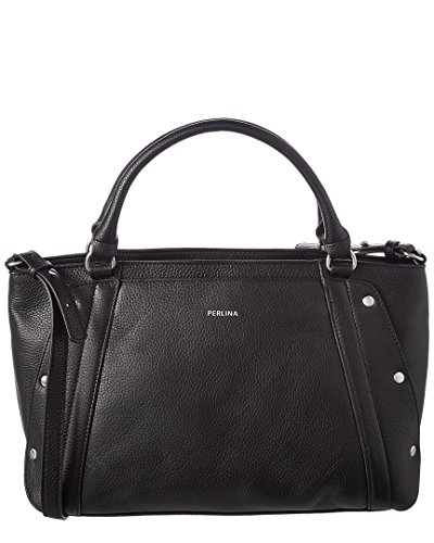 Perlina Nolly Leather Satchel, O/S