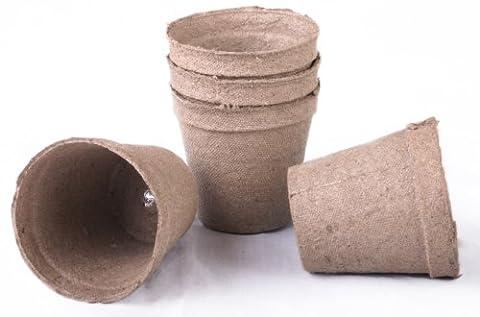 100 NEW Round Jiffy Peat Pots Size