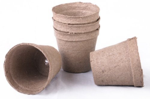 (100 NEW Round Jiffy Peat Pots Size 3x3 ~ Pots Are 3 Inch Round At the Top and 3 Inch Deep. (Basic pack) (Original)