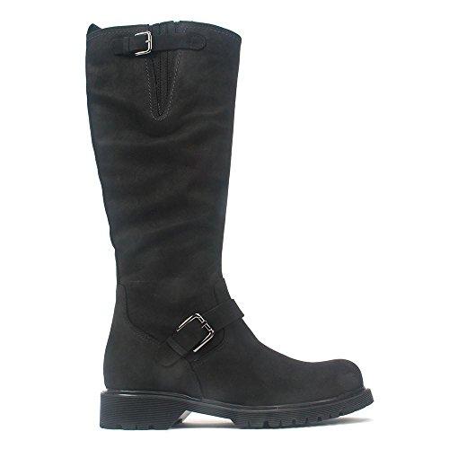 La Canadienne Kvinna Hopp Boot Svart Nubuck