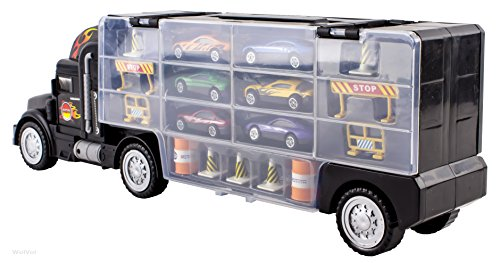 Toy Car Carrier : Wolvol transport car carrier truck toy for boys and girls