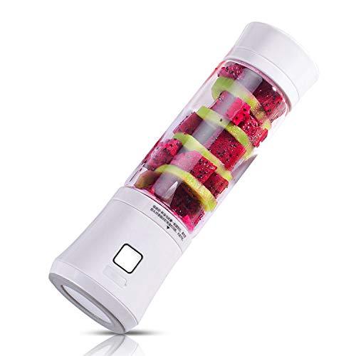 Allegro Huyer Crushed Ice Maker 480ml USB Mini Blender Glass Bottle Juicer 6 Blades Portable Fruits Mixer Meat Grinder Juice Maker ()