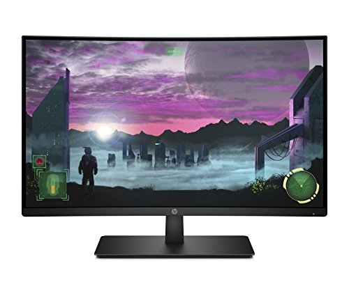 HP 27-inch FHD Curved Gaming Monitor with AMD Freesync Technology 27x, Black