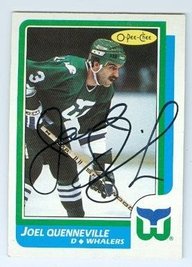 c9c86745b Joel Quenneville autographed hockey card (Hartford Whalers) 1986 O Pee Chee   118 -