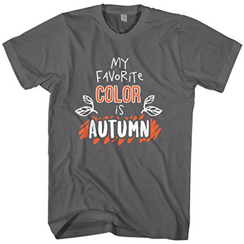 Mixtbrand Men's My Favorite Color Is Autumn T-shirt L Charcoal]()