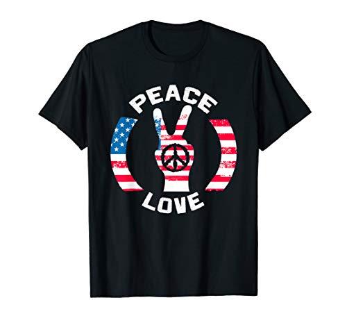 Retro Peace Hippy Cool & Classic Vintage Design T-Shirt