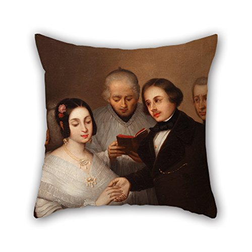 [Uloveme Oil Painting José Gutiérrez De La Vega (attributed) - A Wedding In 1830 Pillow Shams 18 X 18 Inches / 45 By 45 Cm Best Choice For Dance Room,kids Room,bar Seat,chair,divan,bar With 2] (Period Costumes 1830)