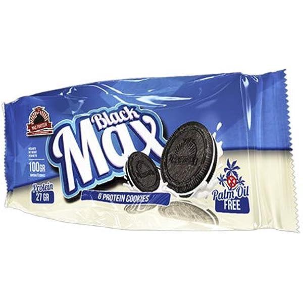 Max Protein - Cookies Black Max, 6 x 100g (6 galletas/paquete ...