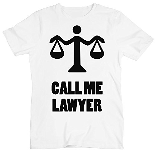 Call Me Lawyer Holding Scales Men's T-Shirt