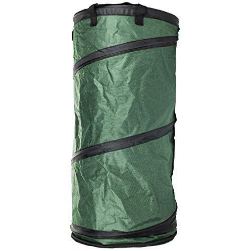 Excello Global Products Collapsible Trash Can Portable Waste Container Outdoor Garbage Bin Popup Utility Bag (12.8