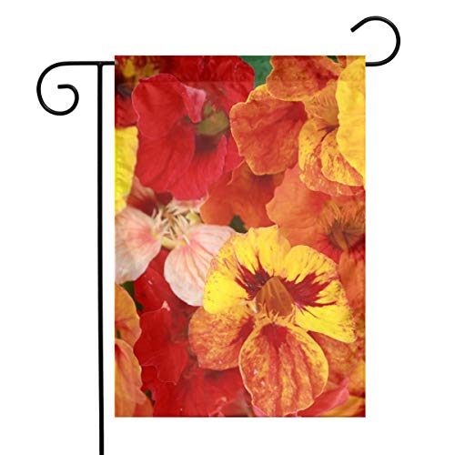 Nasturtium Floral Jewel Mixed Garden Flags Home Indoor & Outdoor Holiday Decorations,Waterproof Polyester Yard Decorative \r\nFor Game Family Party Banner