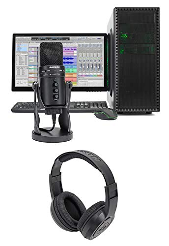 (SAMSON G-Track Pro USB Recording Microphone+Built in Audio Interface+Headphones)