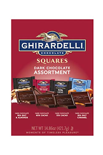 - Ghirardelli Dark Assorted Squares XL Bag, 14.86 Ounce