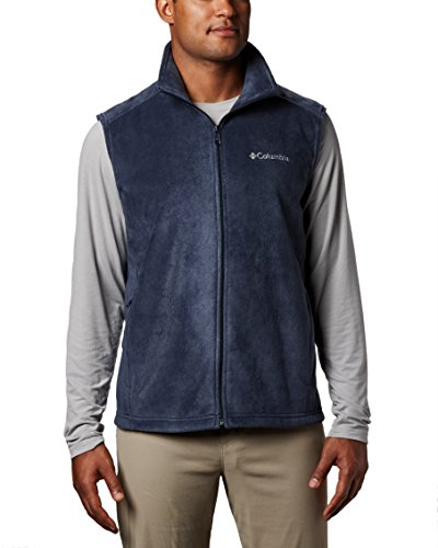 Columbia Men's Steens Mountain Full Zip Soft Fleece Vest, Collegiate Navy, - Navy Vest Fleece
