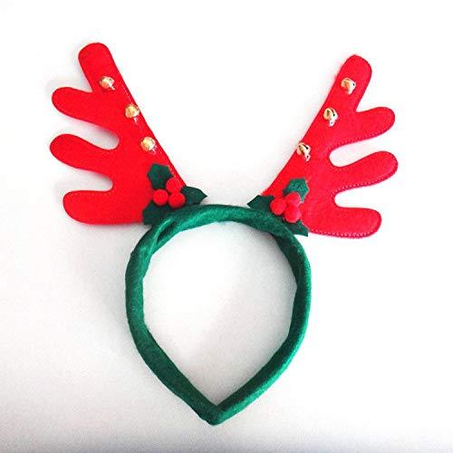 (Christmas Dress Deer Antlers Headband Christmas Supplies Head Buckle Holiday Party Headdress Christmas Decorations)