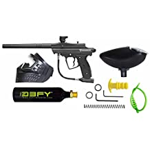 D3fy Sports CP-02-B Conquest Semi Auto Paintball Marker Combo Kit, Black