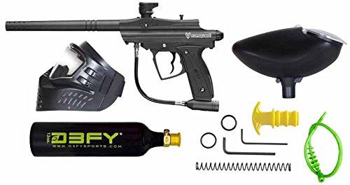 D3FY Conqu3st Semi Auto Paintball Marker Combo Kit, Black