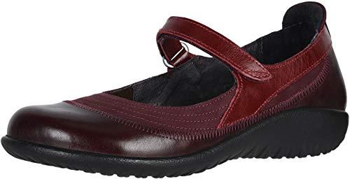 NAOT Footwear Women's Kirei Maryjane Violet Nubuck/Bordeaux Lthr/Rumba Lthr 10 M US