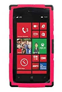 Cerhinu HHI Combo Holster Case with Viewing Stand for Nokia Lumia 928 - Hot Pink/Black (Package include a HandHelditems...