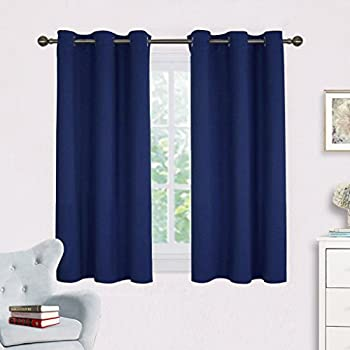 This Item Navy Blue Blackout Draperies Curtains   NICETOWN All Season  Thermal Insulated Solid Grommet Top Blackout Curtains / Drapes For Kidu0027s  Room (1 Pair ...